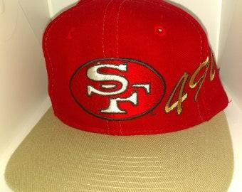 d24d1d823a35a8 Vintage 90's Nfl SF 49ers Apex One Snapback Hat