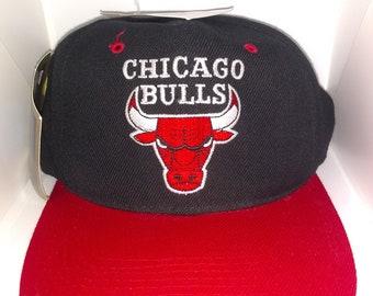 0d74907561826 Vintage 90 s Nba Chicago Bulls Snapback Hat G-Cap New