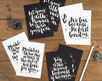 Set of 8 Faith Postcards