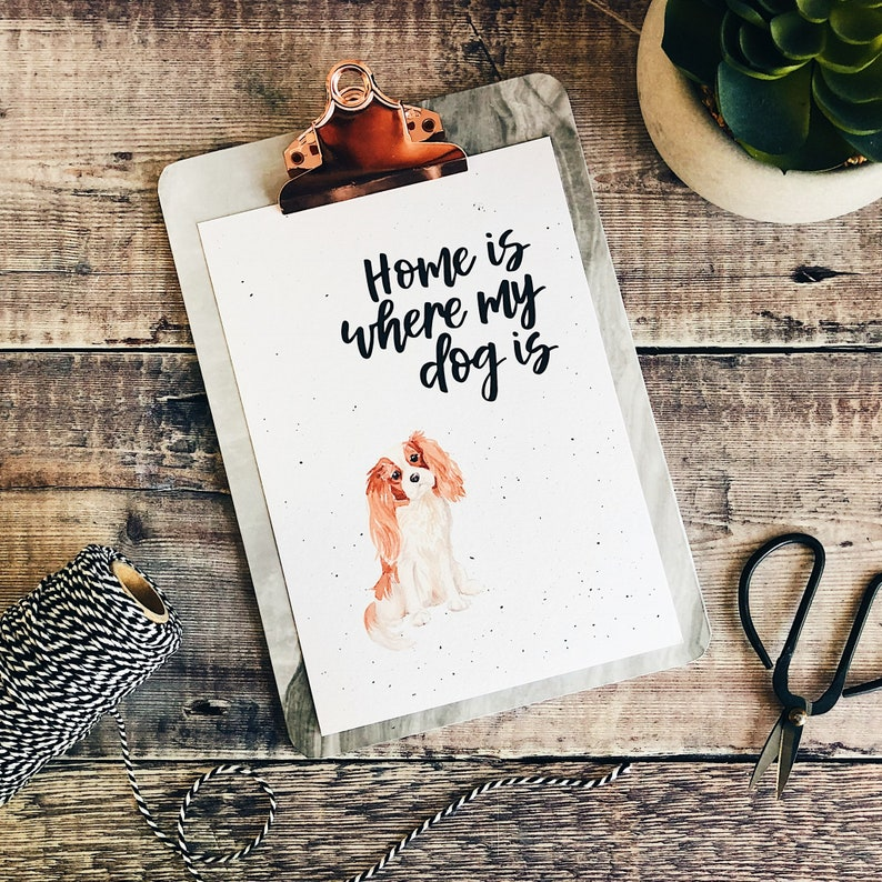 Home Is Where My Dog Is King Charles Spaniel Print