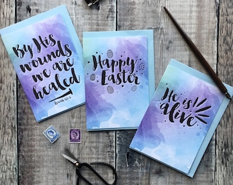 Easter Card Sets - Sets of 6 & 9 - Easter Gifts - Easter Cards - Christian Gifts - Christian Cards - Faith Cards - Bible Verse Cards