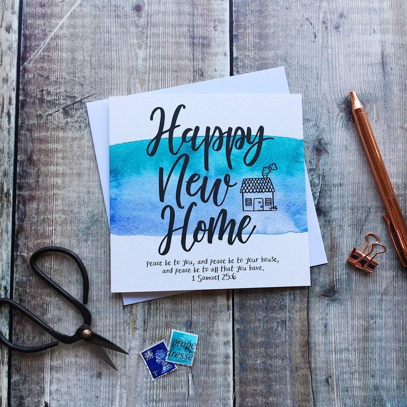 1 Samuel 25:6 Happy New Home Card
