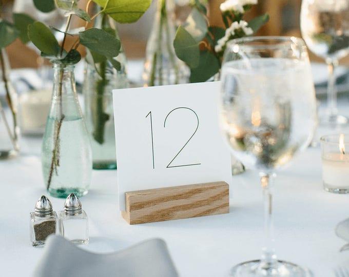 Printable Simple Table Numbers