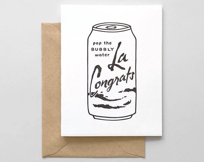 La Congrats Letterpress Greeting Card