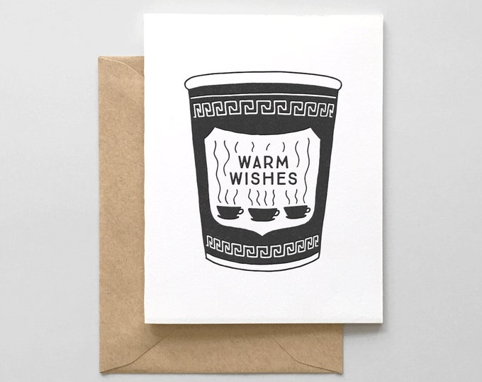 Warm Wishes Letterpress Holiday Card