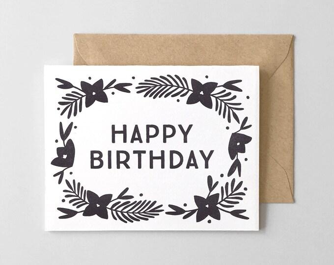Lily Letterpress Birthday Greeting Card