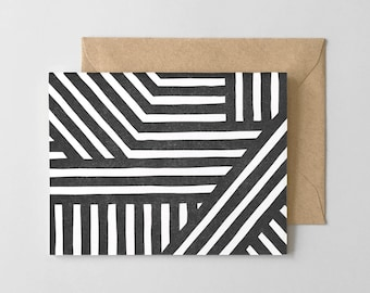 Bold Stripes Letterpress Greeting Card