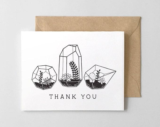 Terrarium Thank You Card