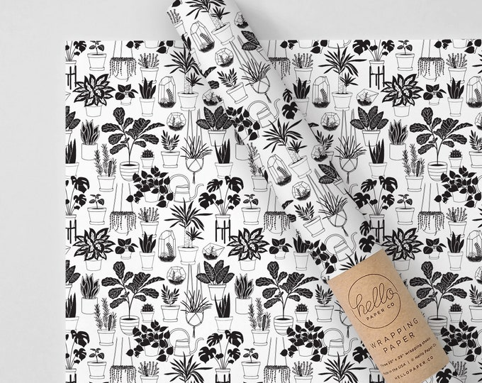 Potted Plants Wrapping Paper