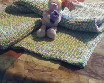 Baby or Toddler blanket, 36x56 could also be used as a afghan.