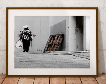 "San Francisco Street Art Photography, Banksy, California, Street Life, Fine Art Photography, 20 cm x 30 cm, 8"" x 12"""