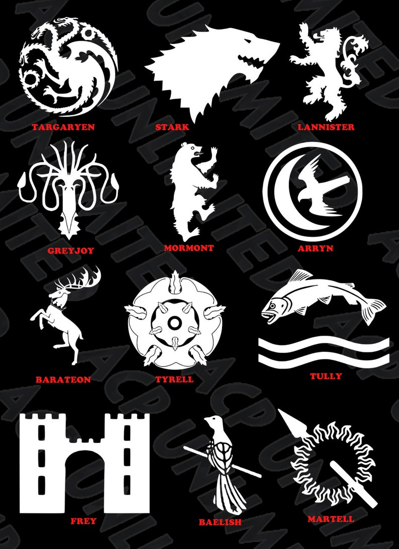 Game of Thrones Targaryen Sigil Vinyl Decal Sticker Clan Crest Car Truck Laptop