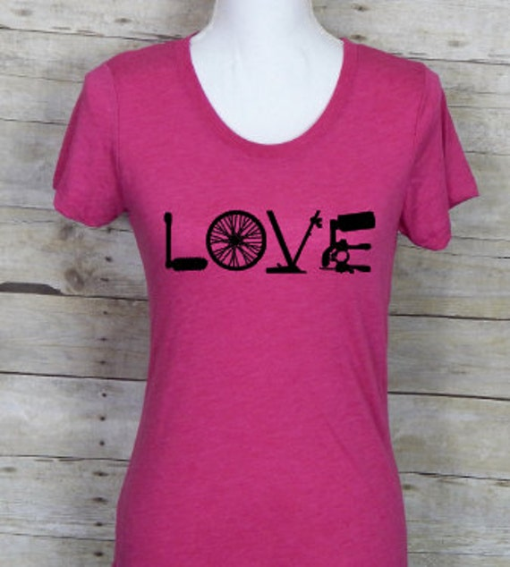 Womens Cycling Love Shirtcyling Is Lifei Love To Etsy