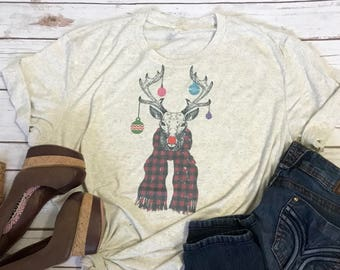 Rudolph Christmas Shirt Rudolph Shirt Vintage Christmas Shirt Womens Christmas Shirt Cute Christmas Shirt Cute Womens Shirt Holiday Tee