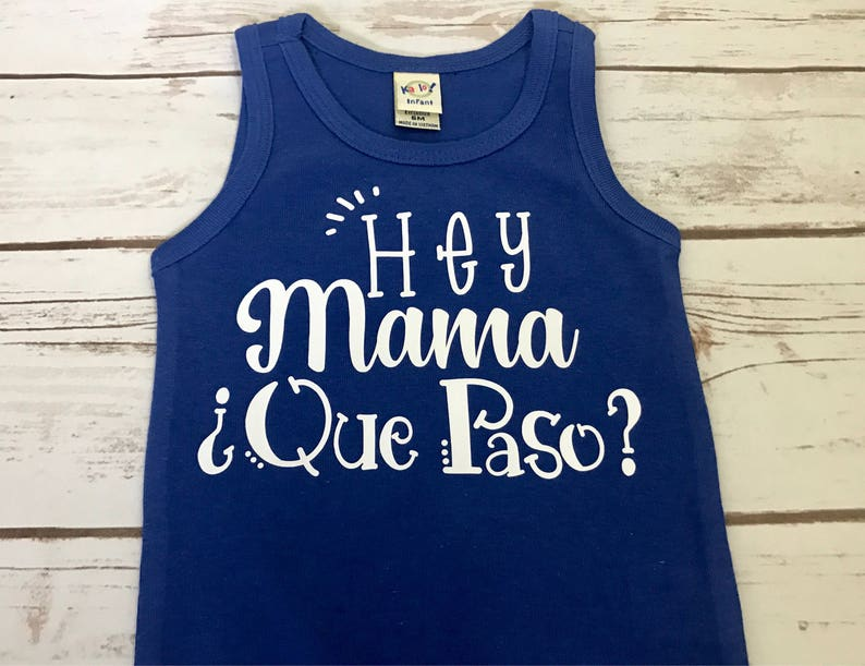 Mama and Baby Girl Hipster Trendy Adorable baby girl top Hip Baby Girl Que Paso? Mama Whats Up Mama Spanish Baby Girl