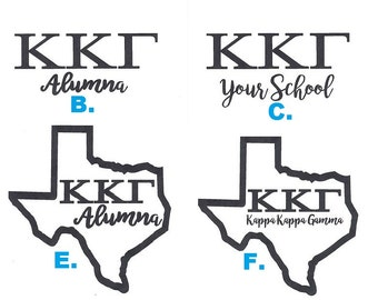 Kappa Kappa Gamma Decals sticker - 166