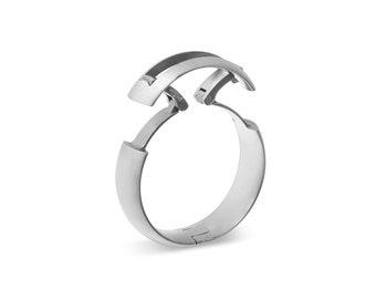 Tg5 Hinged Titanium Active Mens Wedding Ring Etsy