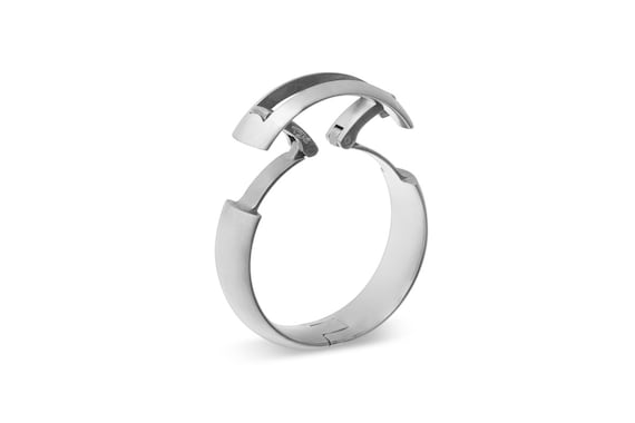 Cp5 Hinged Titanium Mens Wedding Ring For Active Lifestyles Etsy