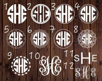 Vinyl Monogram Decal // Personalized Monogram Sticker // Car Decal // Vinyl Decal // Vinyl Monogram // Laptop Monogram Decal // Yeti Decal