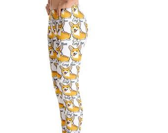 c17666ccd40255 All over printed leggings, Corgi Mom Leggings, workout leggings, leggings  for women, Corgi Mom, women printed leggings, adult leggings