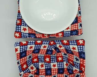 Hot or Cold Cozies Handmade 8 Microwave Bowl Holder Gift For Her Reversible Bowl Caddy Hot Bowl Trivet Hot Pad Microwave Bowl Cozy