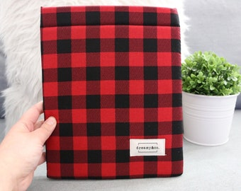 Red/Black Plaid - Book Sleeve