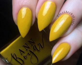Irish Cream | Deep Yellow Creme Nail Polish, Vegan Beauty, Artisan Nail Polish, All Natural Makeup, Cruelty Free, Christmas Gifts For Her