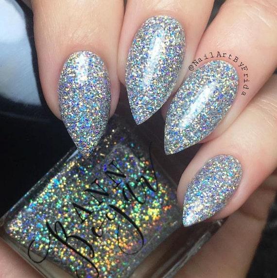 DRY MARTINI Silver Holo Ultrafine Glitter Nail Polish | Etsy