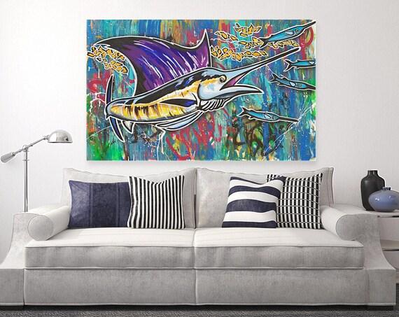 trophy catch / Sailfish artwork / popart / graffiti