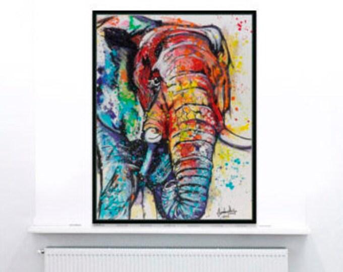 Endangered Elephant painting
