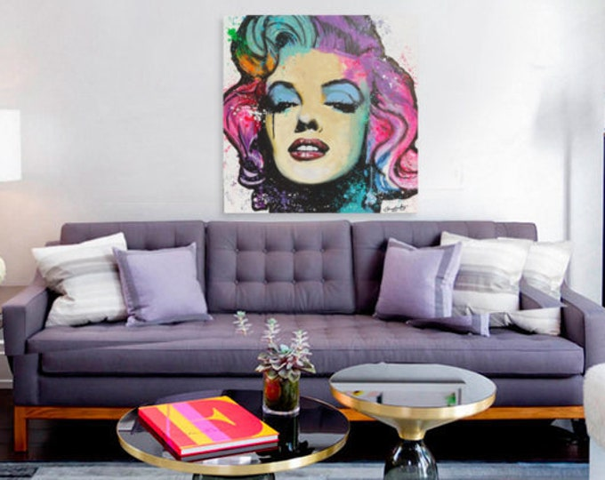 Marilyn Monroe pop art canvas print