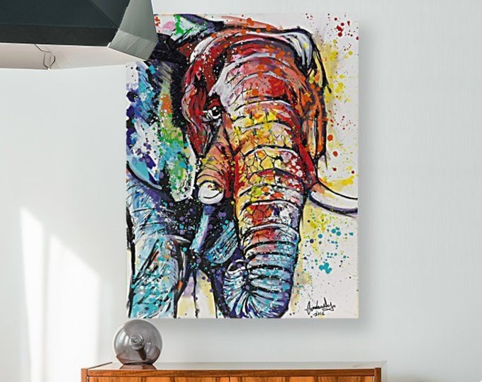 Endangered Elephant painting