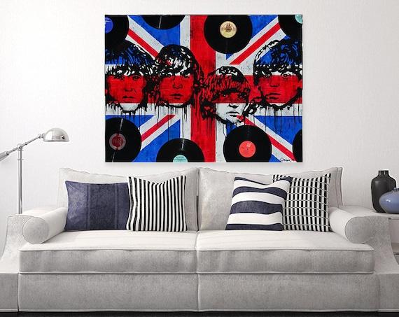 legends never die Beatles painting