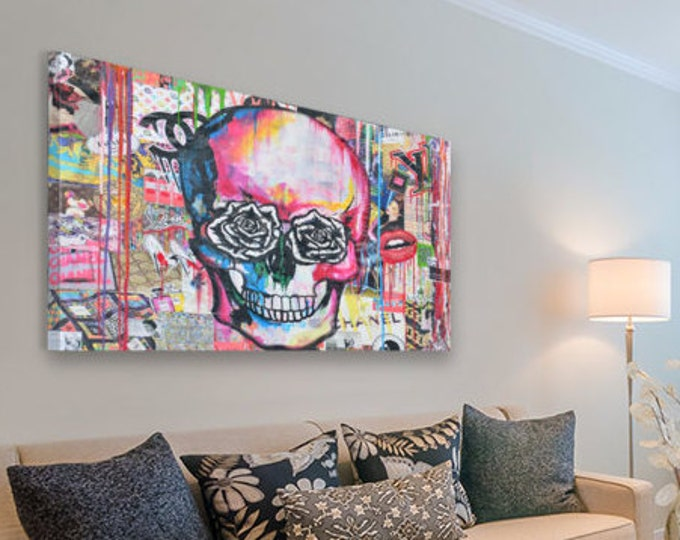 Fashion skull Canvas print popart