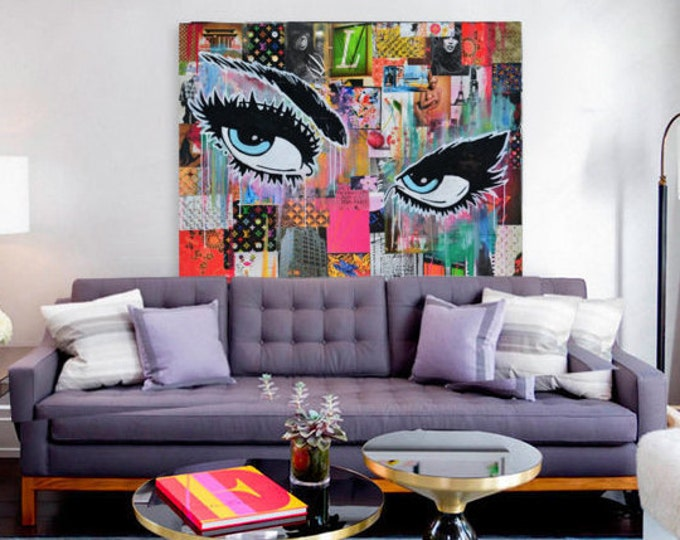 Pop art fashion canvas