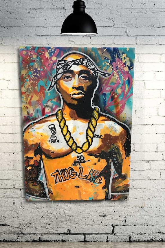 2pac canvas print  tupac canvas print