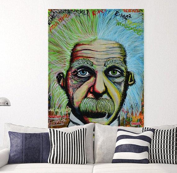 Albert Einstein street art canvas pop art canvas