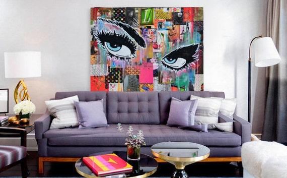 Pop art fashion canvas