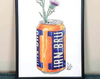 Thistles in Iron Brew can #030 - Art Print