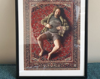 The Big Lebowski -  original art print by Lee McGuire. A perfect gift for any Dude, Dudeness, Duder, or El Duderino.