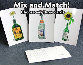 Mix and Match - any custom series of three postcards by Lee McGuire