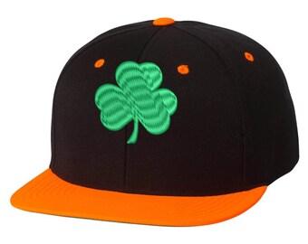 cfe9275dec5 Bill Snapback Cap Green Shamrock Embroidered Hat St Patrick s Day Shamrock  Hat Irish Hat Funny Hat