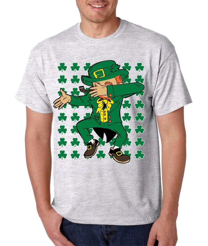 1e7e84ce3 Dab Dabbing Leprechaun St Patrick's Day Shamrock Men's | Etsy
