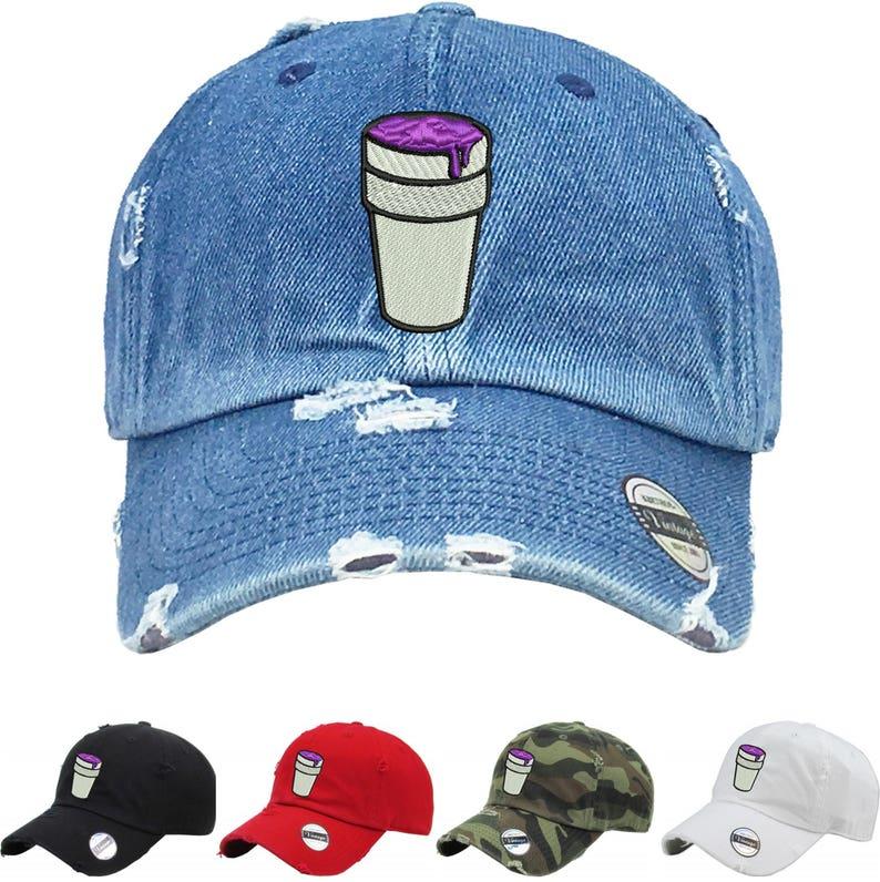 Dad Hat Codeine Cap Cool Vintage Dad Hat Embroidered Print Hat  3b8bf734f1e6