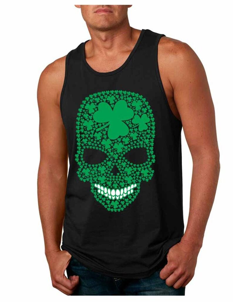379eaa795 St Patricks Day Shirt Irish Skull Men's Tank Top Irish | Etsy