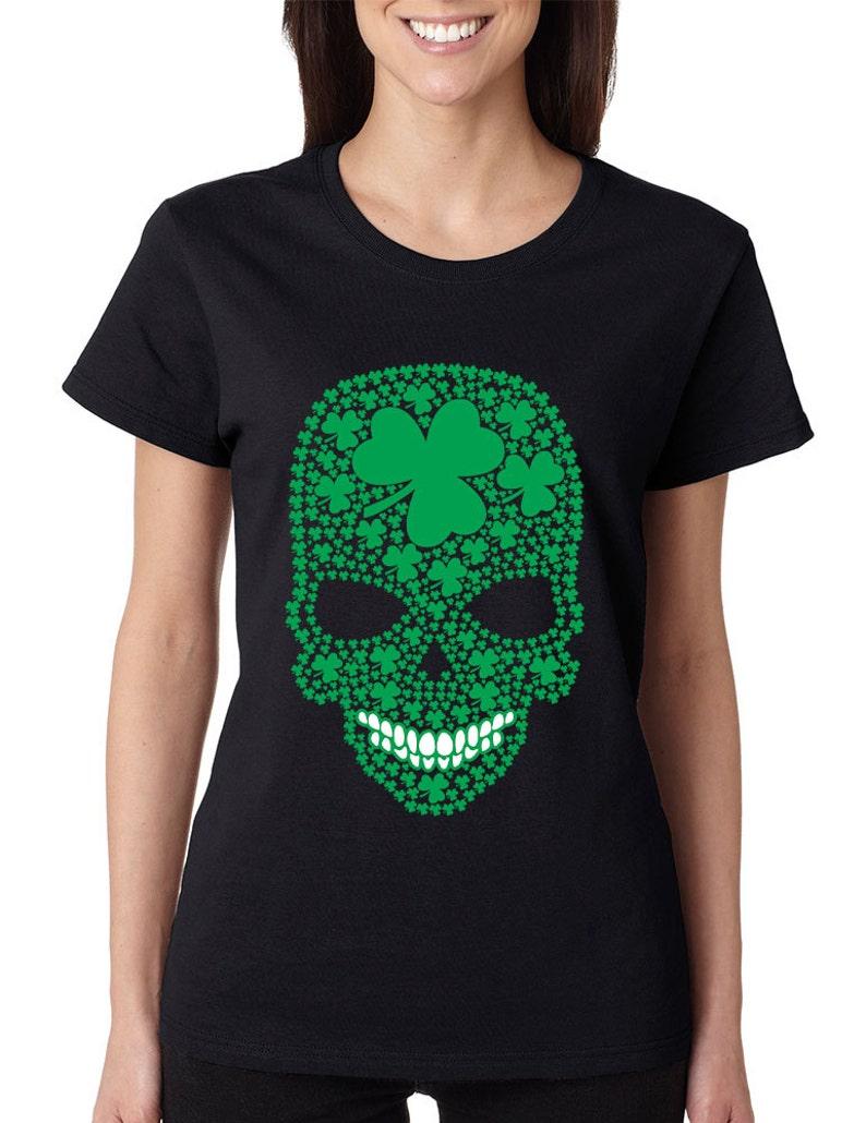 Femmes St Patricks Jour T-Shirt Drôle Irlande Leprechaun Irlandais Paddy Haut Femme