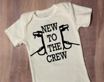 5bf6e3359 New to the Crew Lineman Onesie