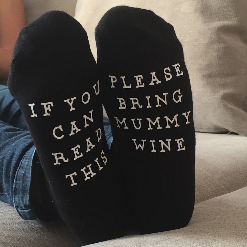 cabef3e275f Personalised Socks If you can read this bring... SOCKS | Etsy