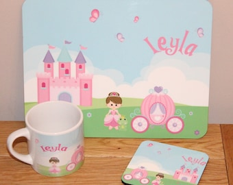 Personalised Childrens Placemat Set (different designs also available)