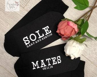 Sole Mate Wedding Socks, Anniversary Gift, Wedding Cotton Gift, Groom Gift